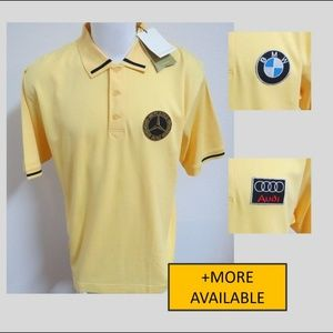 New XL Yellow Cutter & Buck Mens Cotton #94L Polo